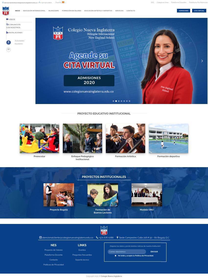 Colegio Nueva inglaterra web