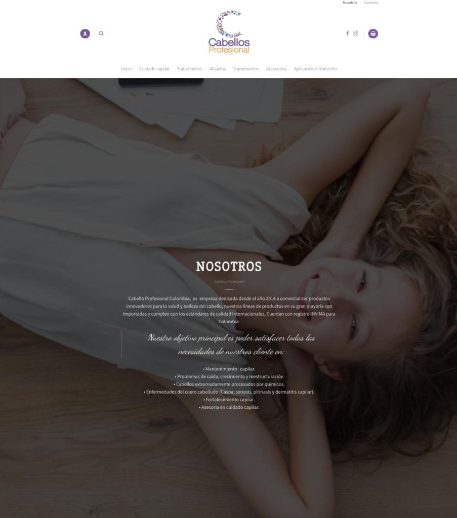 Cabellos profesional web
