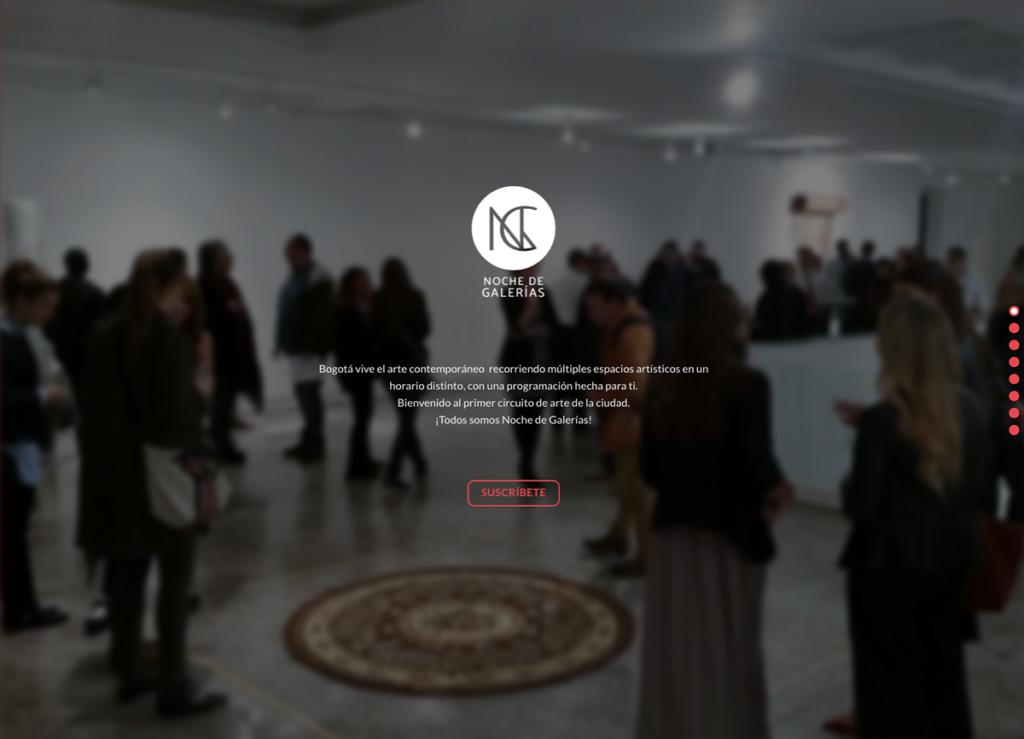 Noche de galerías web